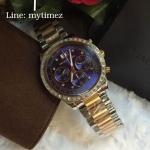 Michael Kors Brinkley Navy Dial Two-tone Ladies Watch MK6205