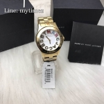 Marc By Marc Jacobs Rivera Gold Tone White Dial Watch MBM3137