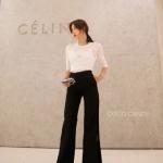 กางเกงผ่าข้าง Korea Slit-hem Pants สีดำ