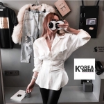 Korea Tie waist Shirt