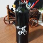 ขวดน้ำจักรยาน สแตนเลส สีดำ