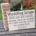 เกมส์เจงก้า หรือ Wedding Puzzles หรือสมุดเกมส์ไม้สำหรับงานแต่ง