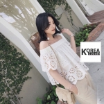 เสื้อแฟชั่นปักฉลุเกาหลี