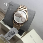 MICHAEL KORS Hartman Silver Dial Ladies Rose Gold Tone Watch MK3673