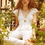 จั๊มสูท Cupid Heart Jumpsuit by Landmee สีขาว