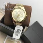 MICHAEL KORS Slim Runway Gold Tone Ladies Crystal Watch MK3590