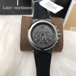 MICHAEL KORS Dylan Chronograph Black Dial Grey Case MK8206