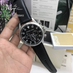 MICHAEL KORS Gage Chronograph Black Dial Black Leather Men's Watch MK8442