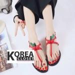 รองเท้าแฟชั่น Summer Collection Shoes Red