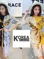 เสื้อแฟชั่นแต่งลูกไม้ สไตร์สาว Korea