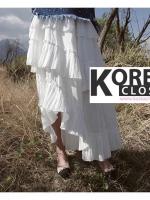 กระโปรงแฟชั่นเกาหลี Korea Ruffle Layerd Skirt