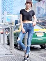 กางเกงยีนส์ Super Skinny CPS Denim