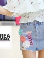กระโปรงยีนส์แฟชั่น How Cute Denim Devided Skirt