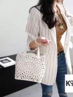 กระเป๋าแฟชั่น Korea Stencil PU Handbag wt Strap