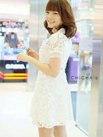 ชุดเดรสMyStyle Lace Dress สีขาว