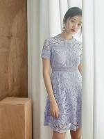ชุดเดรสMyStyle Lace Dress สีม่วง