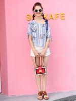 เสื้อแฟชั่น Floral and Stripe Top