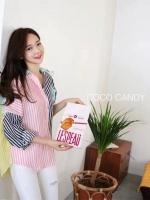 เสื้อเชิ้ต Candy Pastel Stripe Oversize Shirt
