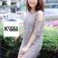 ชุดเดรสแฟชั่น Lilly Cut Shoulder Lace Dress by ChiCha's สีขาว thumbnail 8