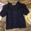 เสื้อแฟชั่น Frill-Trim Lace Cut-Out Cotton Blouse thumbnail 5