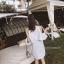 เดรสเชิ้ตลายริ้ว Cutout Shoulder Stripe Dress Shirt thumbnail 3