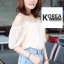 เสื้อแฟชั่น Fuffing Off-shoulder Blouse thumbnail 9