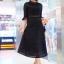 แมกซี่ลูกไม้ Dollita Embroidery Maxi Dress สีดำ thumbnail 2