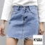 Zara Ripped Denim Skirt thumbnail 2
