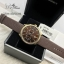 EMPORIO ARMANI Classic Chronograph Brown Dial Brown Leather Men's Watch AR1793 thumbnail 1