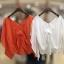 เสื้อแฟชั่น Korea V-Neck Bow Top thumbnail 9