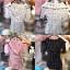 เสื้อสูท Korea Collar Checked Top สีดำ thumbnail 9
