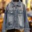 แจ็คเก็ตยีนส์ Sly Flyfirst Embroidery Vintage Denim Jacket thumbnail 7