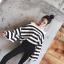 เสื้อเปิดไหล่ Stripe OpenShoulder BellSleeves Top thumbnail 1