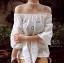 เสื้อแฟชั่น Lala Embroidery Off-Shoulder Blouse thumbnail 3