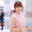 เดรสลูกไม้ 3D Floral Lace Dress สีชมพู thumbnail 4
