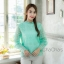 เสื้อลูกไม้ Balloon-Sleeve Embroidered Blouse thumbnail 9