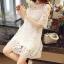 ชุดเดรสแฟชั่น Lilly Cut Shoulder Lace Dress by ChiCha's สีขาว thumbnail 5