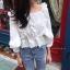 เสื้อแฟชั่น Sweet Vivi White Blouse thumbnail 2