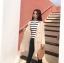 ชุดเซ็ทเสื้อคลุมเบลเซอร์ Set : Knit Long Blazer wt Stripe Knit Top thumbnail 6