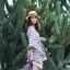เสื้อแฟชั่น Boho Stripe wt Fringe Top thumbnail 2