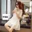 ชุดเดรสแฟชั่น Lilly Cut Shoulder Lace Dress by ChiCha's สีเทา thumbnail 8