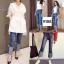 กางเกงยีนส์แฟชั่นปลายขาพับ สไตล์เกาหลี STYLERICH BY KOREA thumbnail 2