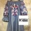 ชุดเดรสแฟชั่น Off-Shoulder Florally Embroidered Dress thumbnail 5