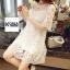 ชุดเดรสแฟชั่น Lilly Cut Shoulder Lace Dress by ChiCha's สีเทา thumbnail 9