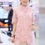 เดรสลูกไม้ 3D Floral Lace Dress สีชมพู thumbnail 2