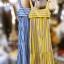 แม็กซี่เดรส Bow Back Stripe Maxi Dress สีเหลือง thumbnail 16