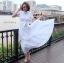 แม็กซี่เดรส Preedeematter Maxi Dress สีขาว thumbnail 2