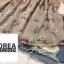 เสื้อแฟชั่น Floral Print Off-Shoulder Organza Balloon-Sleeve Top thumbnail 12