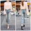 กางเกงยีนส์แฟชั่น Boyfriend Distressed Jeans thumbnail 2