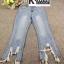 กางเกงยีนส์แฟชั่น Frey-Hem Boot-Cut Jeans สีเข้ม thumbnail 6